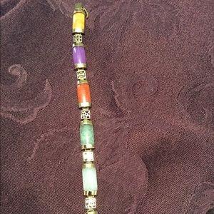 Jewelry - Vintage 1970's Multicolored Real Jade Bracelet